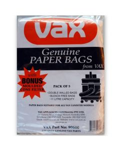 Vax Canister Vacuum Cleaner Bags (90600)