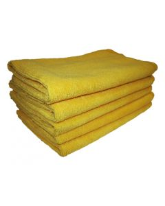 Microfibre Towels Pack of 5 Yellow For Infectious Areas